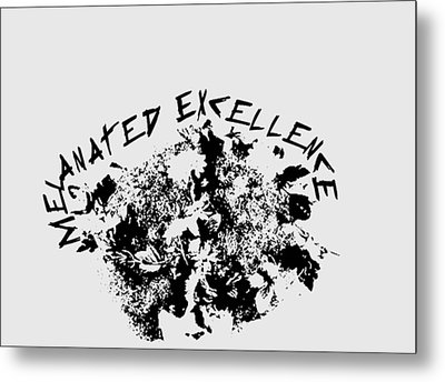 Melanated Excellence IIi Metal Print
