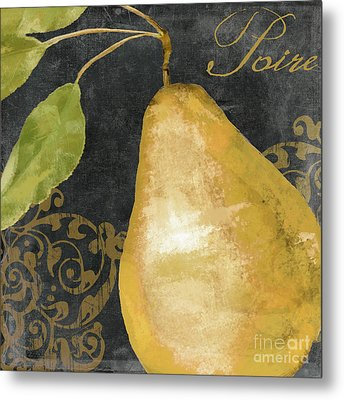 Melange French Yellow Pear Metal Print by Mindy Sommers