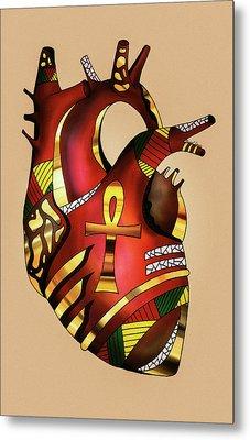 Melanin Heart Metal Print