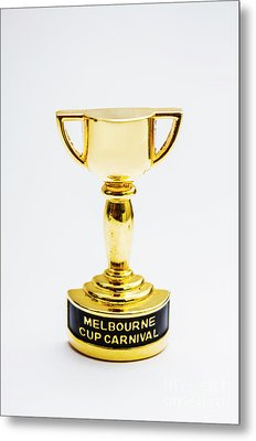 Melbourne Cup Horse Race Trophy Metal Print by Jorgo Photography - Wall Art Gallery