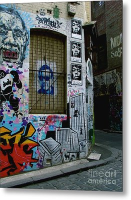 Metal Print featuring the photograph Melbourne Graffiti I by Louise Fahy