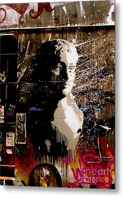 Metal Print featuring the photograph Melbourne Graffiti IIi by Louise Fahy