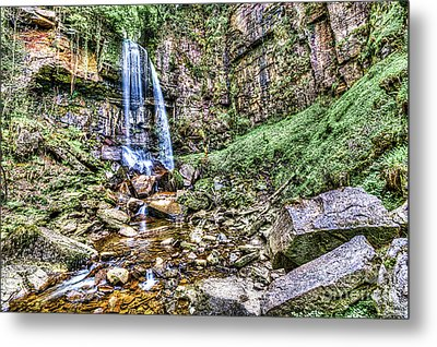 Melincourt Falls Painterly Metal Print by Steve Purnell