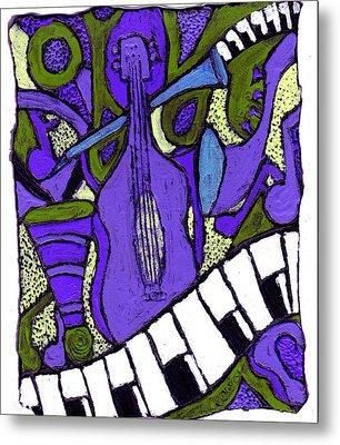 Melllow Jazz Metal Print