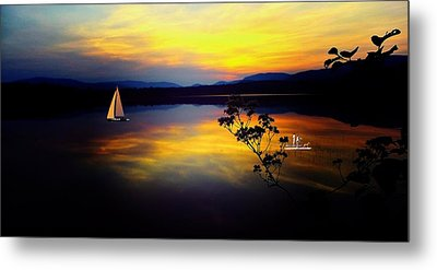 Mellow Moments In New England Metal Print