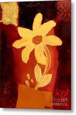Mellow Yellow Metal Print by Marsha Heiken