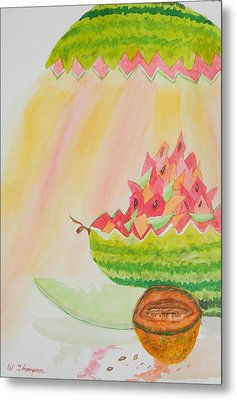 Melon Head Bar And Grill Metal Print by Warren Thompson