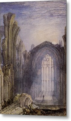 Melrose Abbey Metal Print by Joseph William Mallord Turner