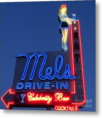 Mels Drive-in Metal Print by Nina Prommer