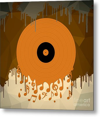 Melting Music Metal Print by Bedros Awak