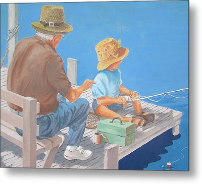 Memorable Day Fishing Metal Print by Tony Caviston