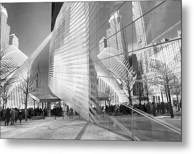 Memorial Museum Reflections Metal Print by Jessica Jenney