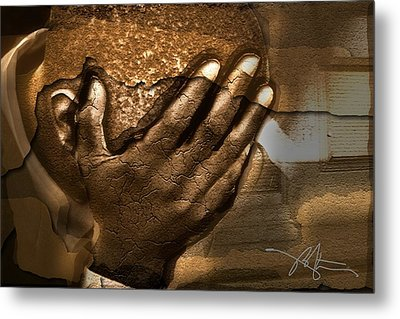 Memories Etched In Stone Metal Print by Bob Salo