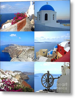 Metal Print featuring the photograph Memories From Santorini by Ana Maria Edulescu