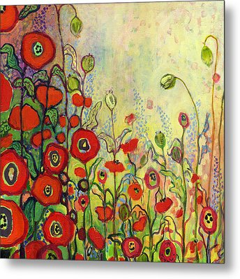 Memories Of Grandmother's Garden Metal Print by Jennifer Lommers