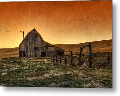 Memories Of Harvest Metal Print by Mark Kiver