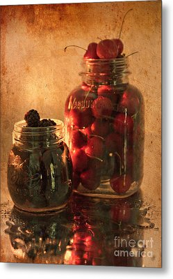 Memories Of Jams, Preserves And Jellies  Metal Print by Sherry Hallemeier