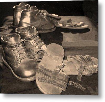 Memories Of Little Feet Metal Print