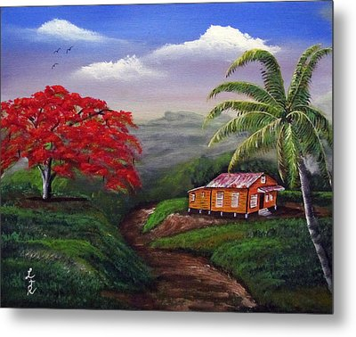 Memories Of My Island Metal Print by Luis F Rodriguez