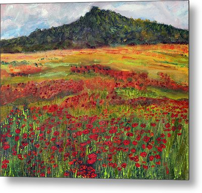 Metal Print featuring the painting Memories Of Provence by Michael Helfen