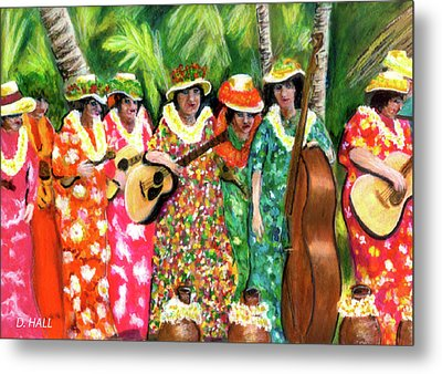Memories Of The Kodak Hula Show At Kapiolani Park In Honolulu #20 Metal Print by Donald k Hall