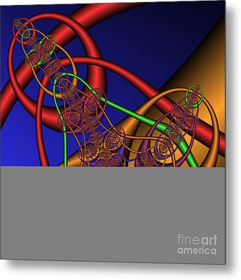 Memory Loops 137 Metal Print by Rolf Bertram