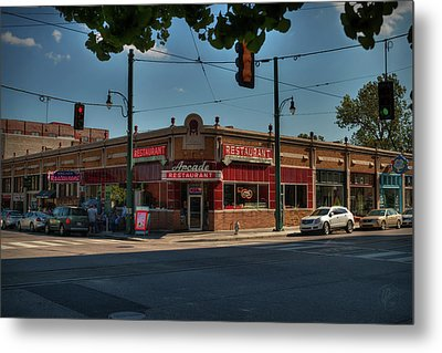 Metal Print featuring the photograph Memphis - Arcade Restaurant 001 by Lance Vaughn