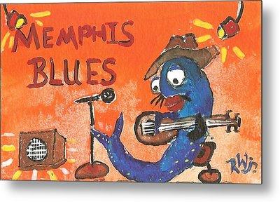 Memphis Blues Metal Print by Robert Wolverton Jr