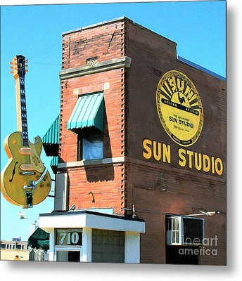 Memphis Sun Studio Birthplace Of Rock And Roll 20160215 Square Metal Print