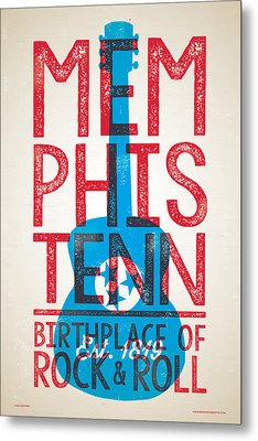 Memphis Tennessee - Birthplace Of Rock N Rll Metal Print by Jim Zahniser