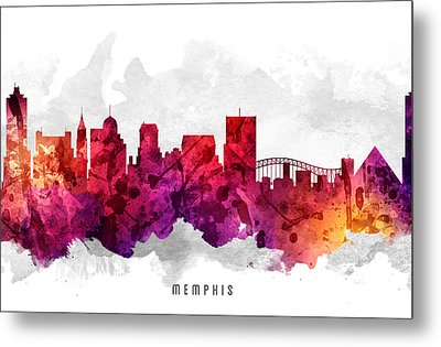 Memphis Tennessee Cityscape 14 Metal Print