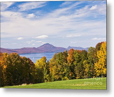 Memphremagog Autumn Metal Print by Alan L Graham