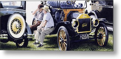 Men And Their Toys Metal Print by Denny Bond