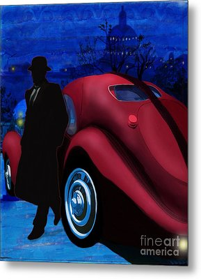 Men With Hats 1 Metal Print by Sydne Archambault