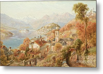 Menaggio Lake Como Metal Print by Celestial Images