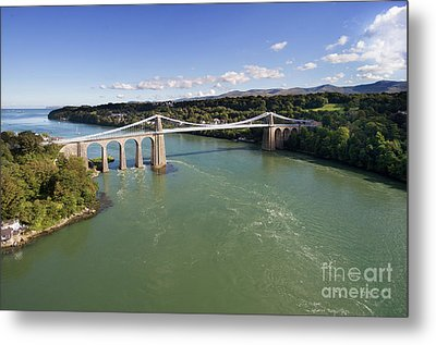 Menai Bridge 1 Metal Print by Steev Stamford