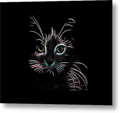 Metal Print featuring the digital art Meow  by Aaron Berg