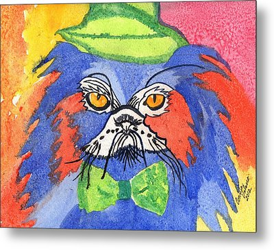 Meow Metal Print by Connie Valasco