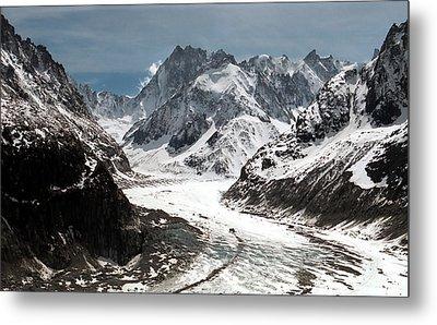 Mer De Glace - Mont Blanc Glacier Metal Print by Frank Tschakert