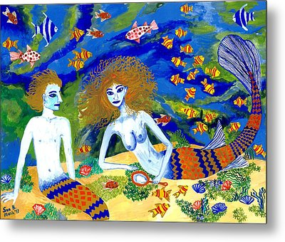 Mer Quarrel Metal Print by Sushila Burgess