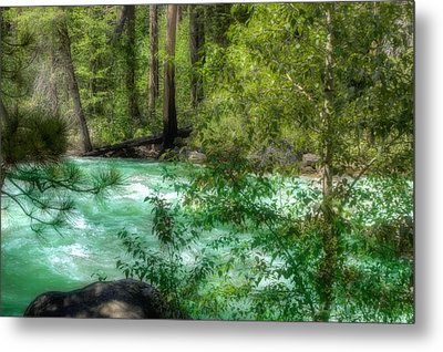 Metal Print featuring the photograph Merced River by Michael Cleere
