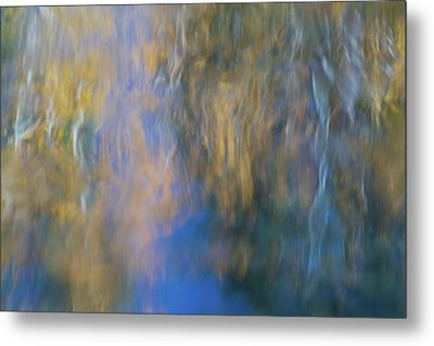 Merced River Reflections 15 Metal Print by Larry Marshall