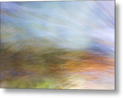 Merced River Reflections 21 Metal Print by Larry Marshall