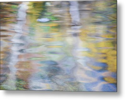 Merced River Reflections 6 Metal Print by Larry Marshall