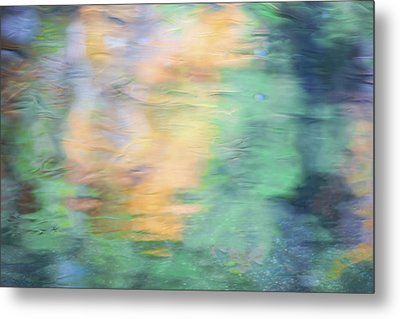 Merced River Reflections 7 Metal Print by Larry Marshall