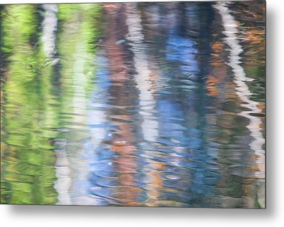 Merced River Reflections 8 Metal Print by Larry Marshall
