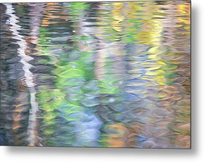 Merced River Reflections 9 Metal Print by Larry Marshall