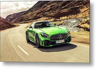 Mercedes A M G  G T  R Metal Print by Movie Poster Prints
