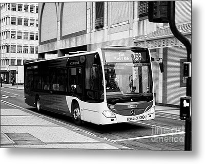 mercedes benz citaro used by Cardiff bus public transport Wales United Kingdom Metal Print by Joe Fox