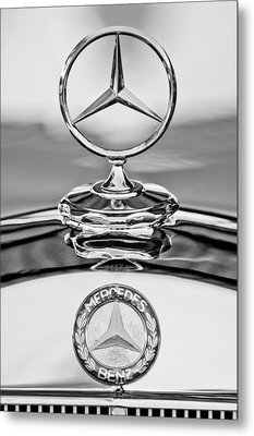 Mercedes Benz Hood Ornament 2 Metal Print by Jill Reger